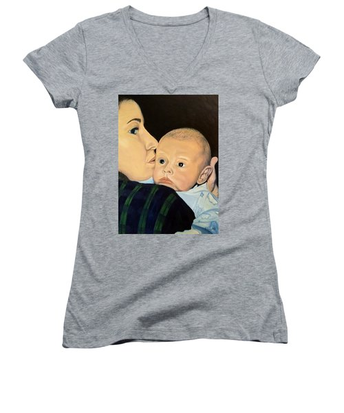 Mother And Son Women's V-Neck