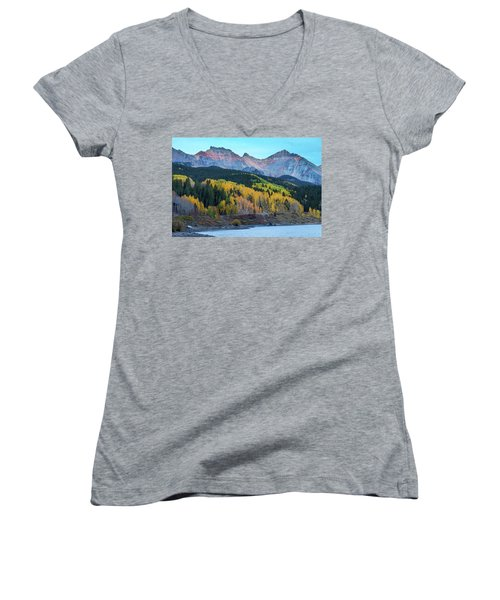 Women's V-Neck featuring the photograph Mountain Trout Lake Wonder by James BO Insogna