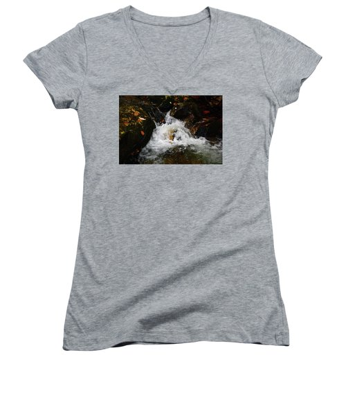 Women's V-Neck (Athletic Fit) featuring the photograph Mountain Water by Raymond Salani III