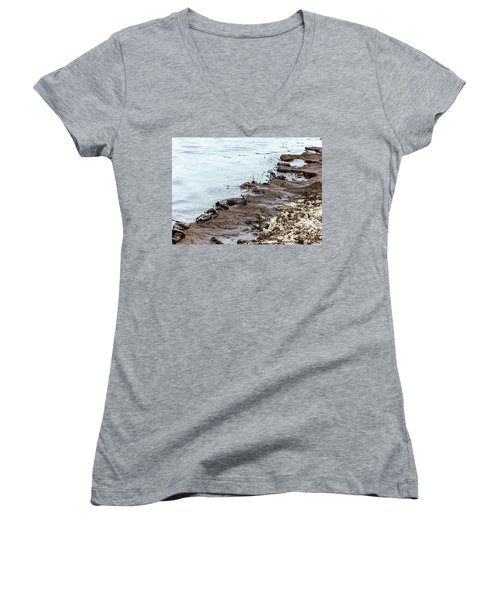 Muddy Sea Shore Women's V-Neck
