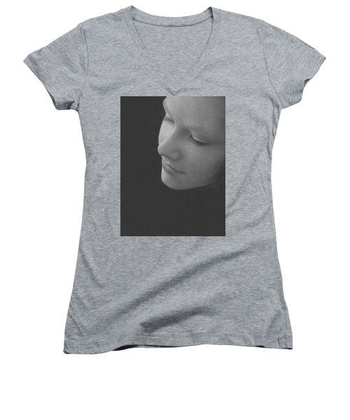 Muted Shadow No. 9 Women's V-Neck