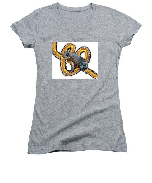 N Is For Northern Banjo Frog Women's V-Neck (Athletic Fit)