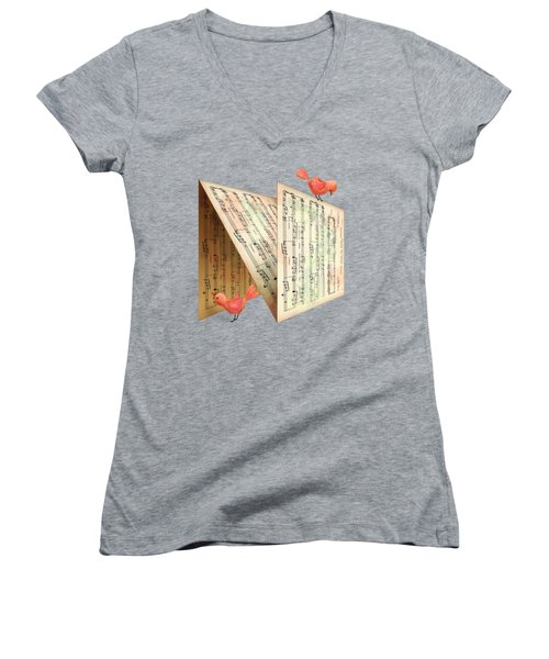 N Is For Notes Women's V-Neck