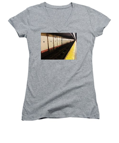 New York City Subway Line Women's V-Neck