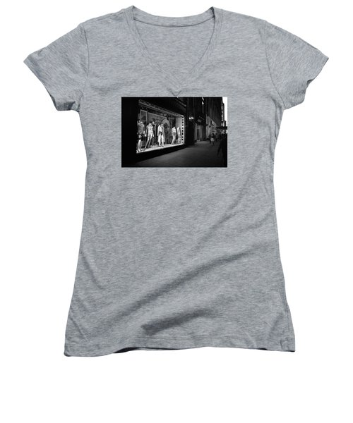 Women's V-Neck featuring the photograph New York, New York 12 by Ron Cline