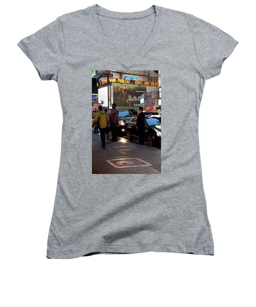 Women's V-Neck featuring the photograph New York, New York 29 by Ron Cline
