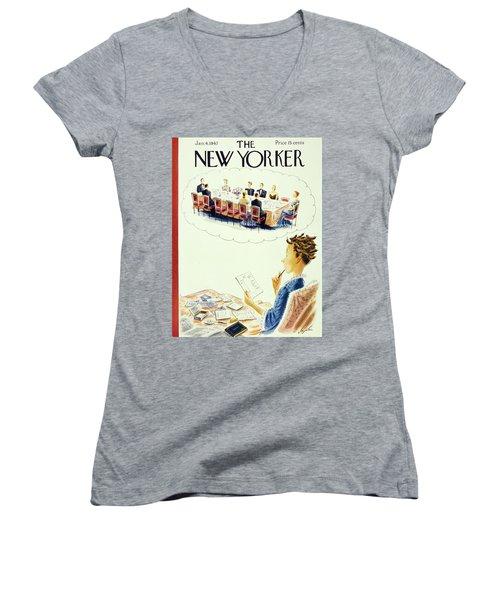 New Yorker January 4, 1947 Women's V-Neck