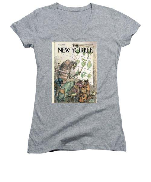 New Yorker July 10th, 2000 Women's V-Neck