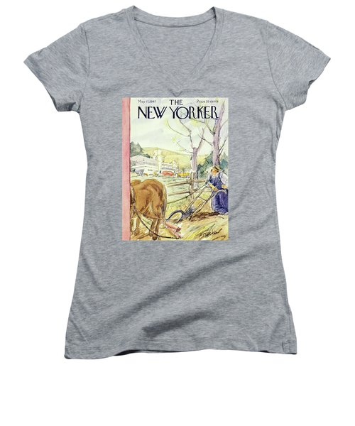 New Yorker May 17th 1947 Women's V-Neck
