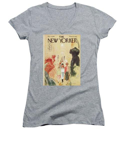 New Yorker November 14 1959 Women's V-Neck