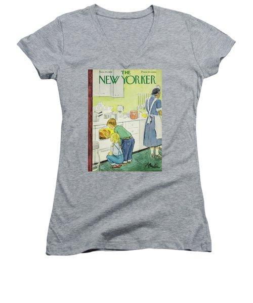 New Yorker November 24, 1951 Women's V-Neck