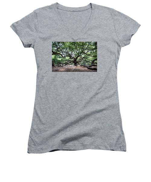 Oak Of The Angels - Friendship Is A Tree Women's V-Neck