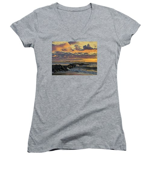 Ob Sunset No. 3 Women's V-Neck
