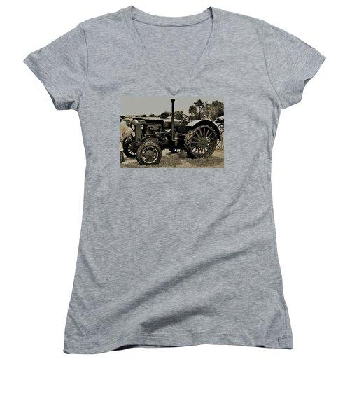 Ye Old Tractor Women's V-Neck