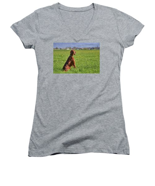 On The Watch Women's V-Neck