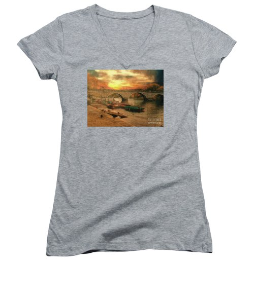 Once More To The Bridge Dear Friends Women's V-Neck