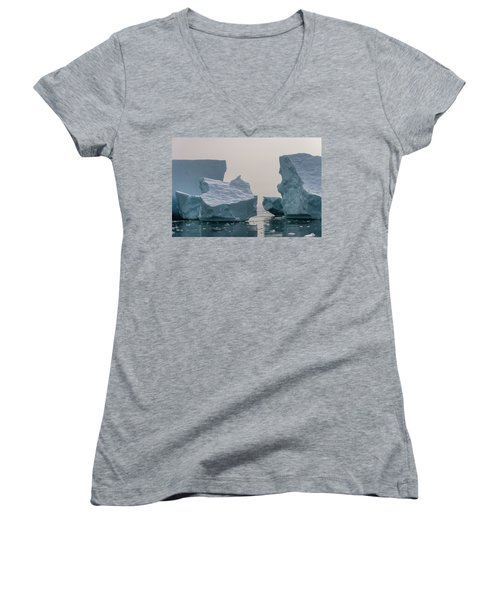 Women's V-Neck featuring the photograph One Cube Or Two by Alex Lapidus