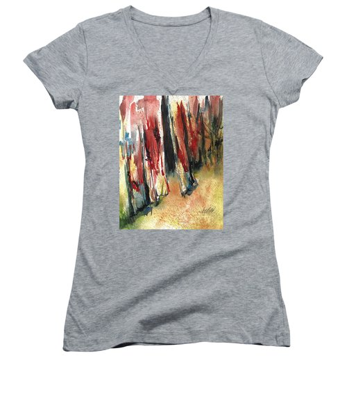Out Back Behind The Old Red Barn Women's V-Neck
