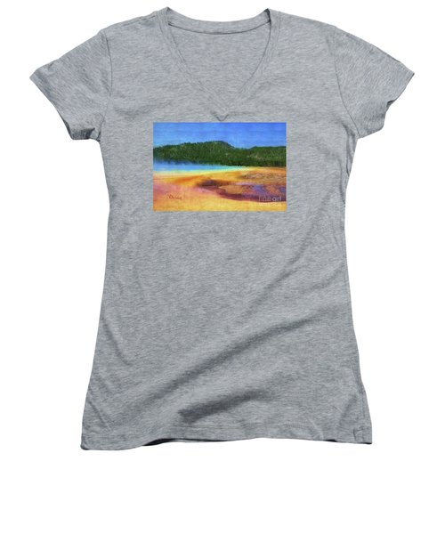 Painting #5 Women's V-Neck (Athletic Fit)