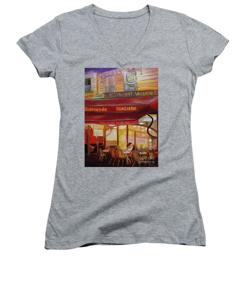 Paris Night Women's V-Neck