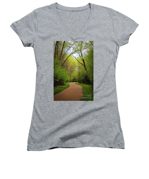 Path In The Forest Women's V-Neck