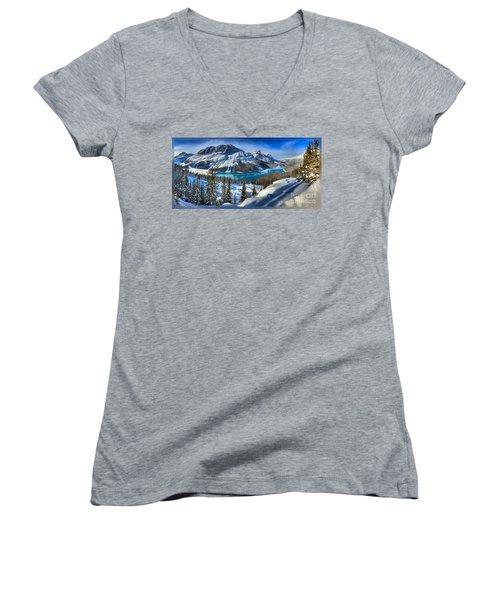 Peyto Lake T-shirt Women's V-Neck