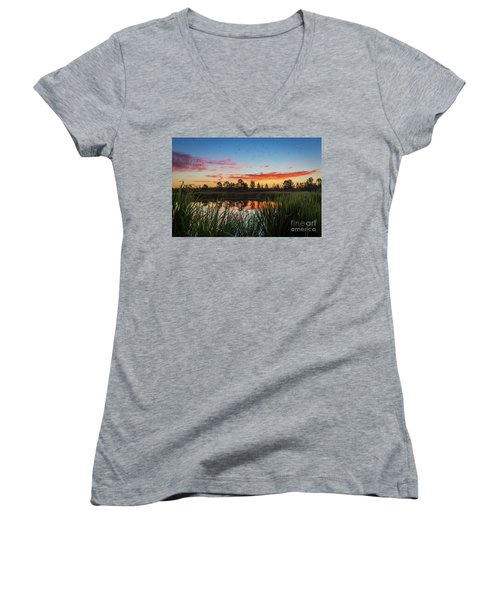 Phinizy Swamp Sunrise - Augusta Ga Women's V-Neck