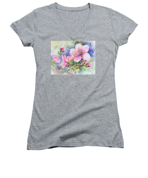Pink Blossoms Women's V-Neck