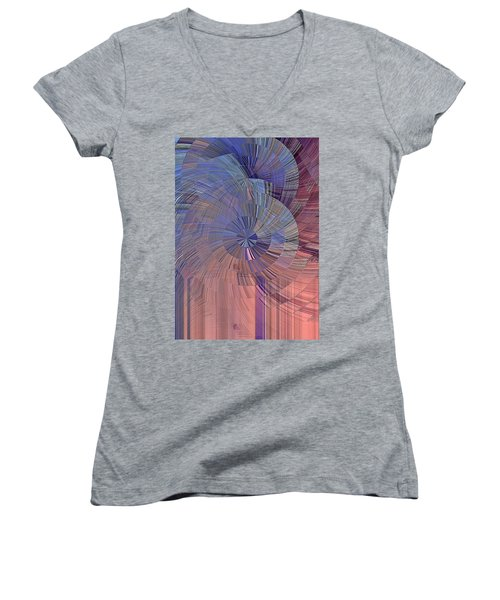 Pink, Blue And Purple Women's V-Neck