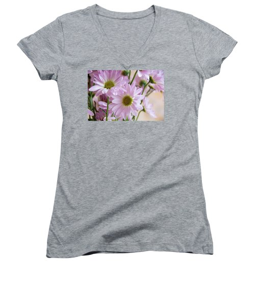 Pink Daisies-1 Women's V-Neck