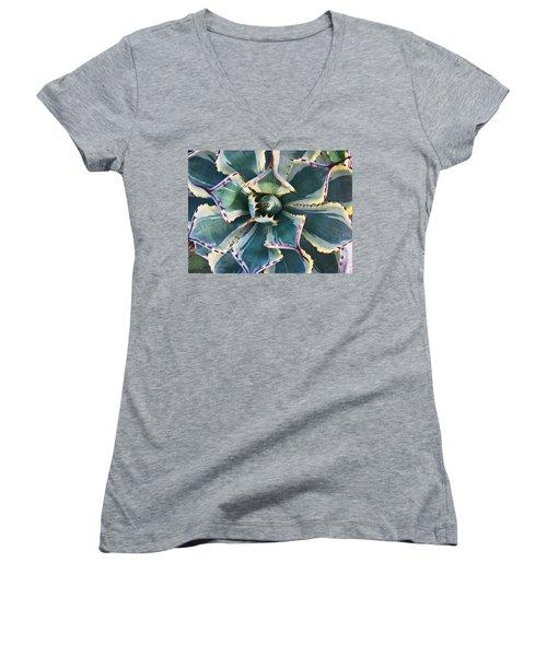 Pinwheel Succulent Women's V-Neck