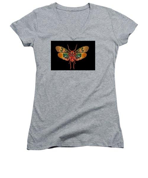 Planthopper Lanternfly Women's V-Neck
