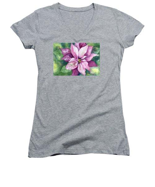 Poinsettia Women's V-Neck