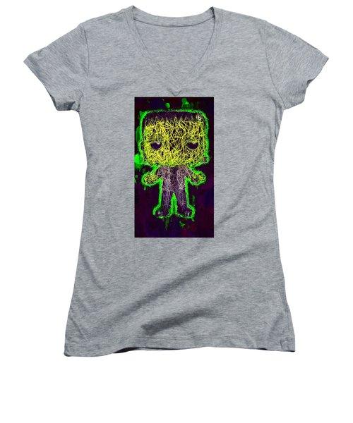 Frankenstein Pop 2 Women's V-Neck