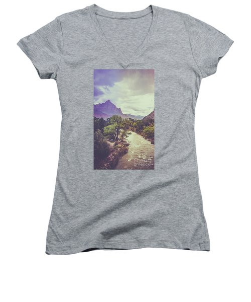 Postcard Image Women's V-Neck