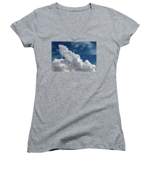 Puffy White Clouds Women's V-Neck