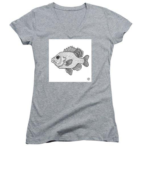 Pumpkinseed Fish Women's V-Neck