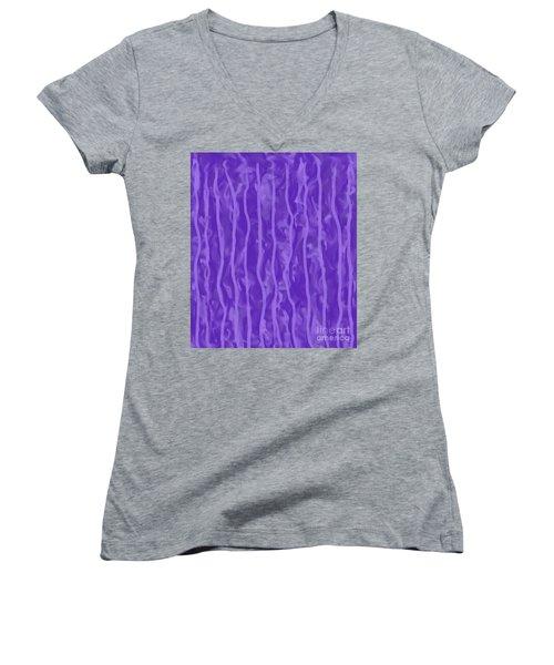 Purple Rain On My Window Women's V-Neck