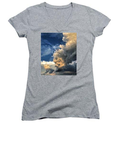 Women's V-Neck featuring the photograph Reaching Toward Heaven by Andrea Platt
