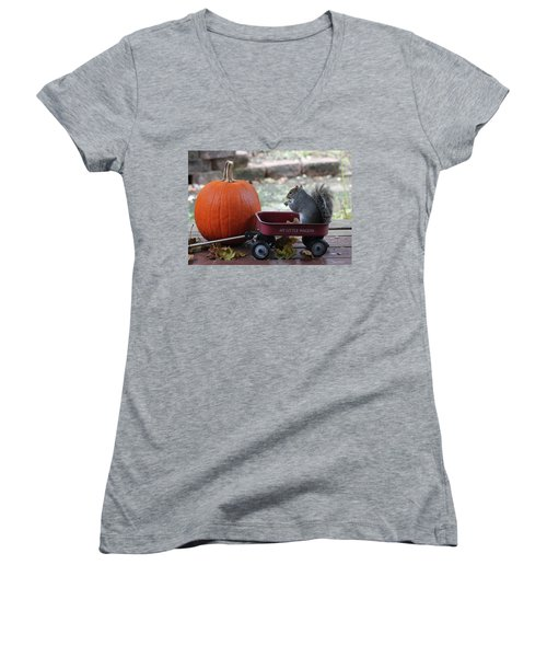 Ready To Ride My Little Red Wagon Women's V-Neck