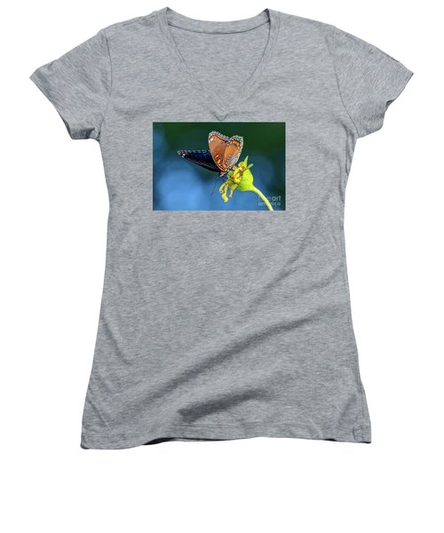 Red-spotted Purple Butterfly Women's V-Neck