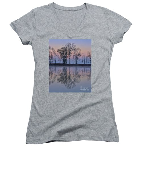 Reflections On The Lake Women's V-Neck