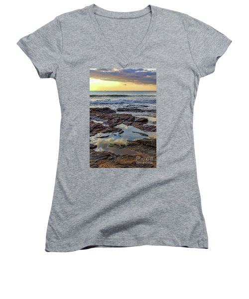 Reflections On The Rocks Women's V-Neck