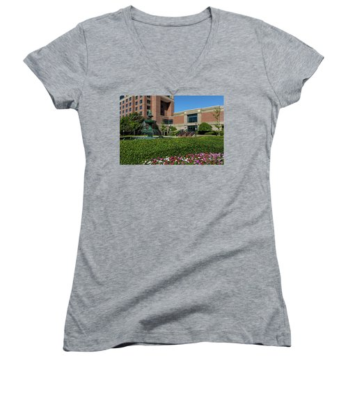Riverwalk Augusta Ga Fountain Women's V-Neck