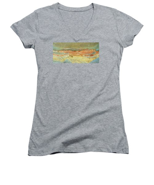 Rock Stain Abstract 2 Women's V-Neck