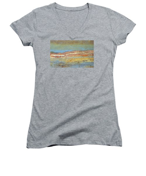 Rock Stain Abstract 3 Women's V-Neck