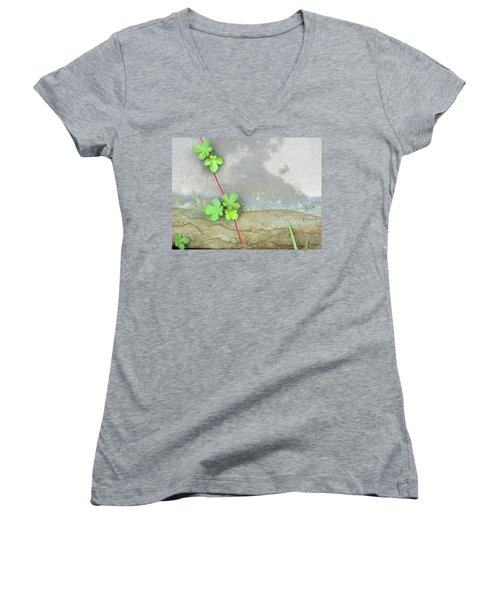 Rock Stain Abstract 4 Women's V-Neck