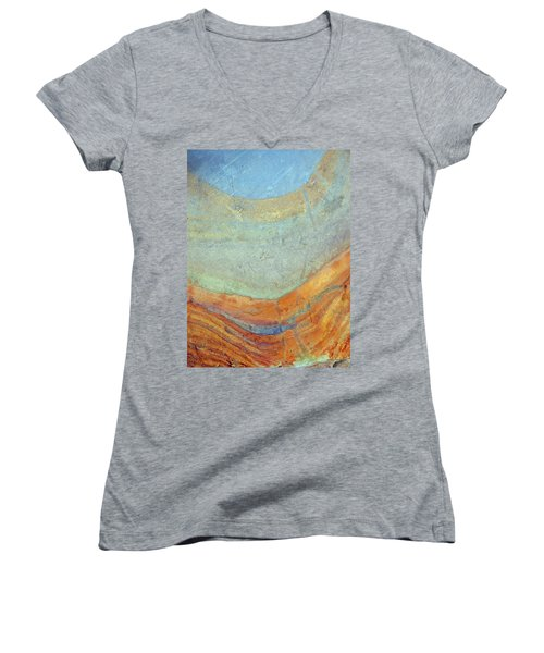 Rock Stain Abstract 7 Women's V-Neck
