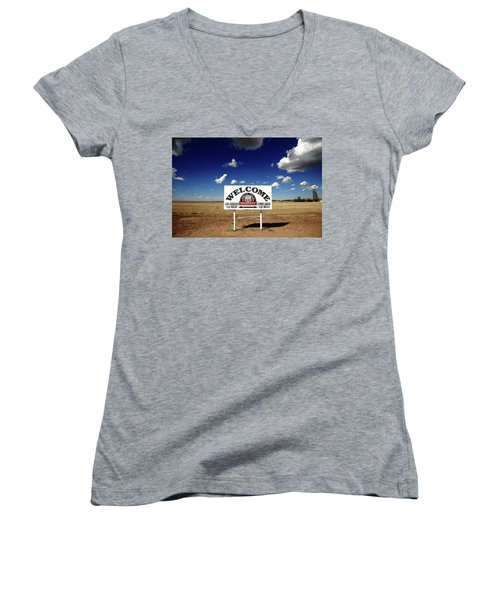 Route 66 - Midpoint Sign 2010 Bw Women's V-Neck