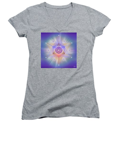 Sacred Geometry 734 Women's V-Neck
